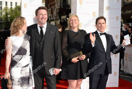 Stock Image of Tara McKillop, Lee Mack, Claire Holland and Rob Brydon