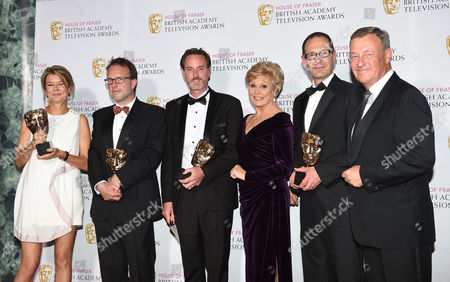 Alex Crawford, David Rees, Nick Ludman, Angela Rippon, Thomas Moore and Jeremy Thompson. Winner of News Coverage