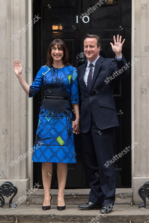 David Cameron and Samantha Cameron outside No.10 Downing Street