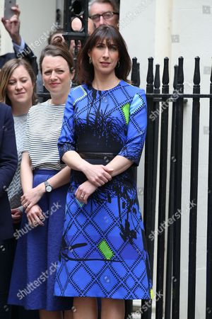 Samantha Cameron outside No.10 Downing Street