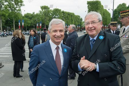 President of the Ile-de-France region general council, Jean-Paul Huchon, Speaks to Parliament President and candidate for Ile-de-France region general council, Jean Claude Bartolone