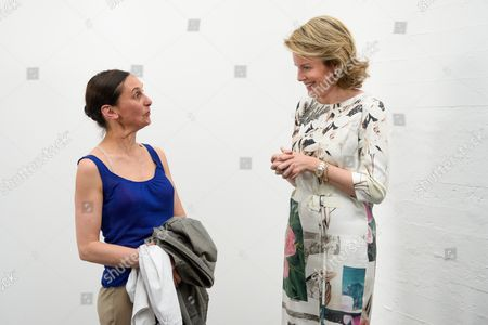 Anne Teresa De Keersmaeker and Queen Mathilde
