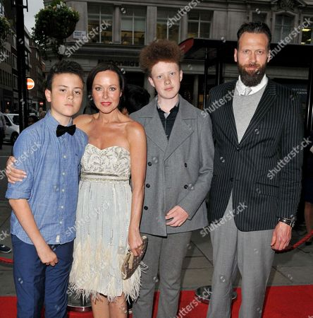 Stock Picture of Otis Sainsbury, Amanda Mealing, Milo Sainsbury and Richard Sainsbury