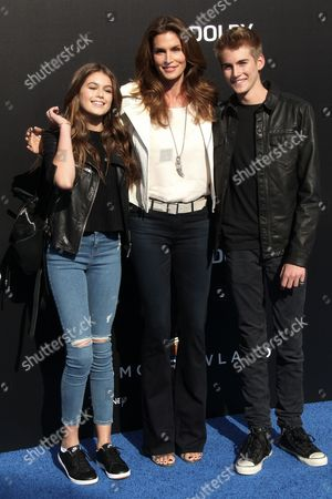 Cindy Crawford with Kids Presley Gerber and Kaia Jordan Gerber