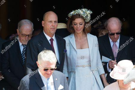 Editorial image of Princess Gabriella and Prince Jacques Royal christening at Cathedral of Monaco - 10 May 2015