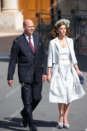 Editorial picture of Princess Gabriella and Prince Jacques Royal christening at Cathedral of Monaco - 10 May 2015