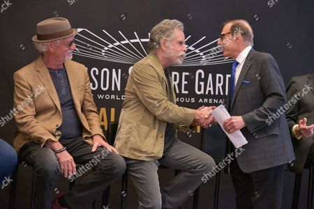 Bill Kreutzmann,   Bob Weir, MSG photographer George Kalinsky