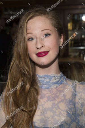 Celeste Dodwell (Jackie Coryton) attends the after party on Press Night for Hay Fever at National Gallery Cafe