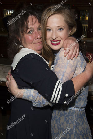 Celeste Dodwell (Jackie Coryton) and Mossie Smith (Clara) attend the after party on Press Night for Hay Fever at National Gallery Cafe