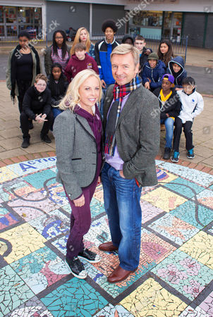 Pictured: [Back standing] Shardae, Monet, Megan, Maugan, Tishawn, Bryer and Madi. [Sitting] Owen, Arianna, Bailey, Shabaz, Hi-Lee, Aran and Jamie. [Front] Jane Torvill and Christopher Dean.