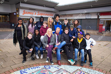 Pictured: [Back row standing] Shardae, Monet, Tishawn, Megan, Maugan, Bryer and Madi. [Front row sitting] Owen, Arianna, Bailey, Jane Torvill and Christopher Dean, Oliver, Shabaz, Aran, Hi-Lee and Jamie.
