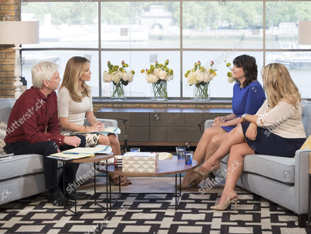 Phillip Schofield and Amanda Holden with Marina Pearson and Rebecca Jane