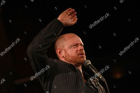 Editorial image of War on Want' comedy show at the Union Chapel, London, Britain - 12 May 2015