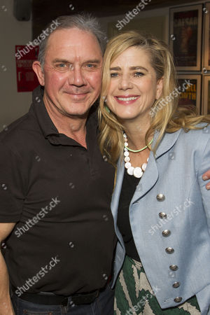 David Bamber (Julian) and Imogen Stubbs (Ruella) attend the after party on Press Night for Communicating Doors at the Menier Chocolate Factory