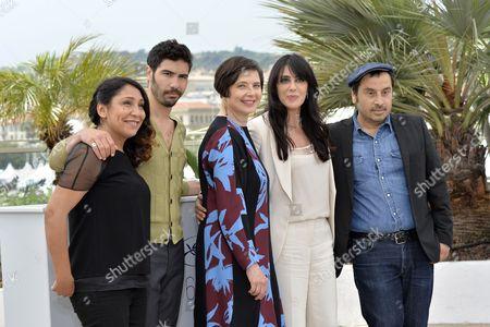 Haifaa Al-Mansour, Tahar Rahim, the President of Jury Isabella Rossellini, Nadine Labaki, Panos H. Koutras