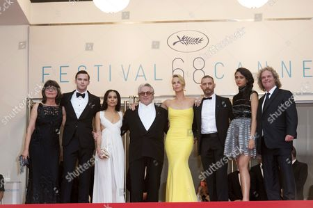 Margaret Sixel, actors Nicholas Hoult, Zoe Kravitz, director George Miller, actors Charlize Theron, Tom Hardy, Courtney Eaton and producer Doug Mitchell