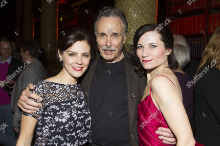 Stock Photo of Annabel Scholey (Liz Imbrie), Arthur Kopit (Author) and Kate Fleetwood (Tracy Lord)