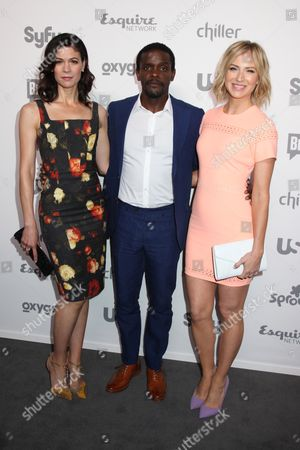 Lauren Stamile, Chris Chalk and Beth Riesgraf