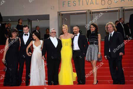 Nicholas Hoult, Zoe Kravitz, George Miller, Charlize Theron, Tom Hardy, Courtney Eaton, Doug Mitchell