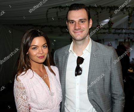 Cooper Hefner with girlfriend Scarlett Byrne actress who played Pansy Parkinson in the Harry Potter film; at Mansion