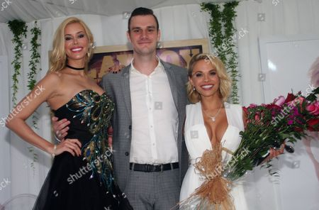 Dani (right) with last years Playmate of the Year 2014; Kennedy Summers (left); and Cooper Hefner