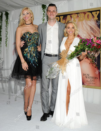 Kennedy Summers, Cooper Hefner and Dani Mathers, 2015 Playboy Playmate of the Year