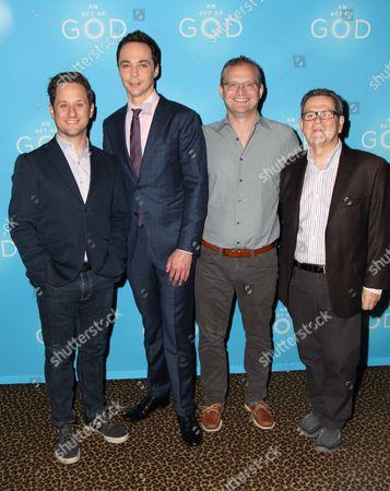 Christopher Fitzgerald, Jim Parsons, David Javerbaum, Tim Kazuri
