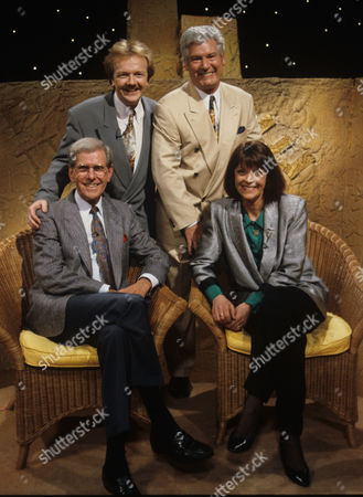 Stock Photo of Bob Holness, Alan Robson, Roy Walker and Isla St Clair