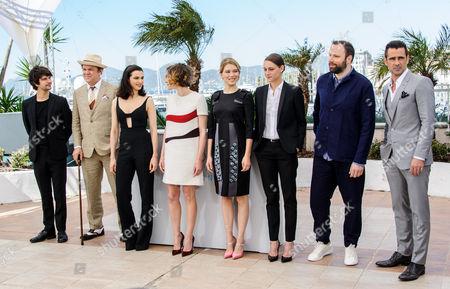 L-R: Ben Whishaw, John C Reilly, Rachel Weisz, Ariane Labed, Lea Seydoux, Angeliki Papoulia, Yorgos Lanthimos (Director), Colin Farrell
