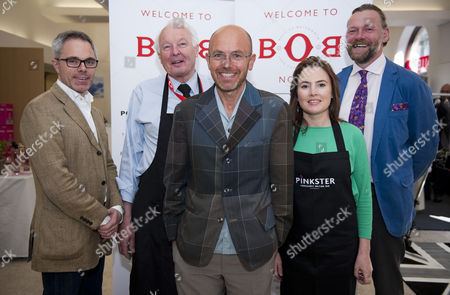 Stock Image of James Cook - CEO for Odd Chair Company, Martin Grey - Retail Executive at Cheaney, Wayne Hemingway MBE, Georgia Hainault - Head of Events for Pinkster Gin, Charles Hancock - Head of Creative Lancashire