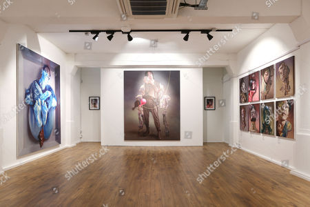 Editorial picture of World Civil War Portraits exhibition by Sara Shamma at StolenSpace Gallery, London, Britain - 14 May 2015