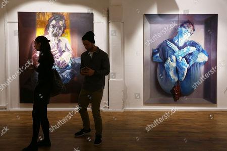 Editorial image of World Civil War Portraits exhibition by Sara Shamma at StolenSpace Gallery, London, Britain - 14 May 2015