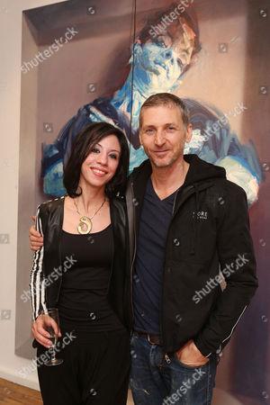 Sara Shamma and artist Charming Baker