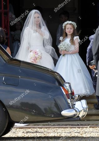 Stock Picture of Geri Halliwell and daughter Bluebell Halliwell
