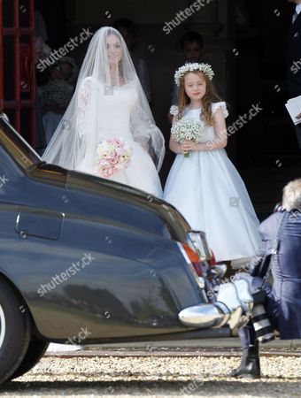 Stock Photo of Geri Halliwell and daughter Bluebell Halliwell