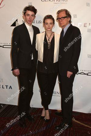 Matthew Beard, Carey Mulligan and Bill Nighy