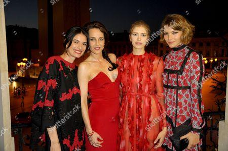 Leila Yavari, Julie Brangstrup, Elena Perminova and Arizona Muse