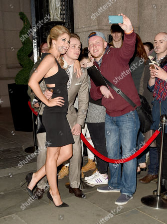 Amanda Clapham and Alfie Browne-Sykes with fans