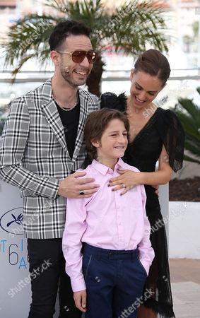 Stock Image of Gilad Kahana, Amir Tessler and Natalie Portman