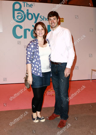 Stock Picture of Pregnant Zac Purchase and fiancée Felicity Hill