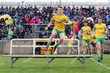 Donegal captain Michael Carroll leads the team