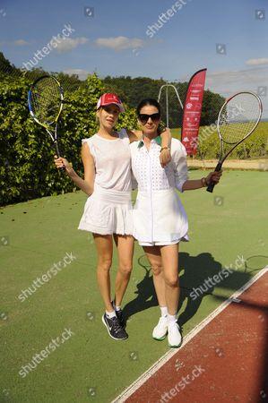 Elena Perminova and Leila Yavari