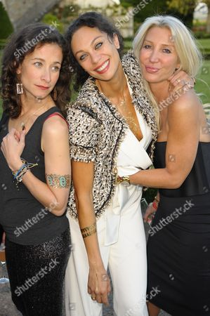 Stock Image of Leah Wood, Lily Becker and Sam Hornby