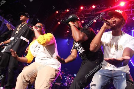 Stock Picture of Jay Z, Beanie Sigel, Memphis Bleek and Neef