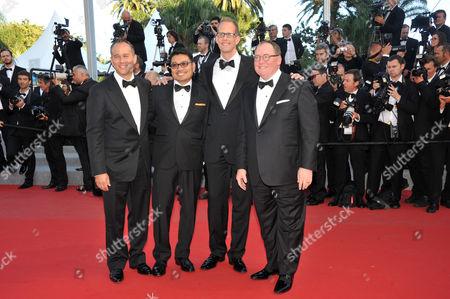 Pete Docter, Jonas Rivera, Ronnie del Carmen, John Lasseter