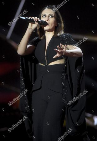 "Elhaida Dani, Albania 's entry for the Eurovision Song Contest, performs her song ""I'm Alive"""