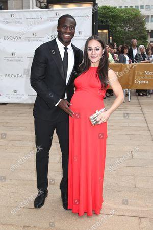 Prince Amukamara and wife Pilar Davis Amukamara