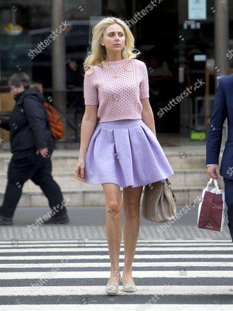 Ekaterina Parfenova outside the High Court