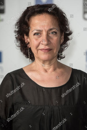 Stock Picture of Author Hoda Barakat poses during a photo-shoot before the announcement of the 2015 Man Booker Prize winner at the Victoria and Albert Museum.