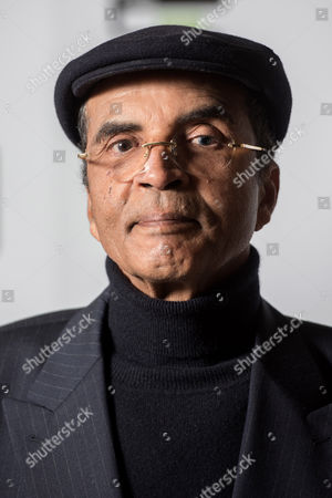 Stock Photo of Author Ibrahim al-Koni poses during a photo-shoot before the announcement of the 2015 Man Booker Prize winner at the Victoria and Albert Museum.
